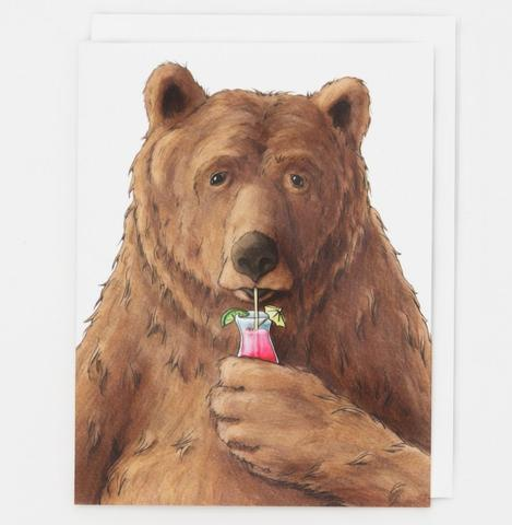 Happy Hour Bear Card