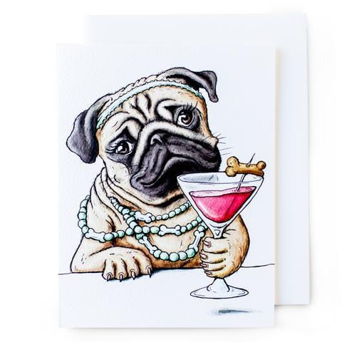 Happy Hour Pug Card