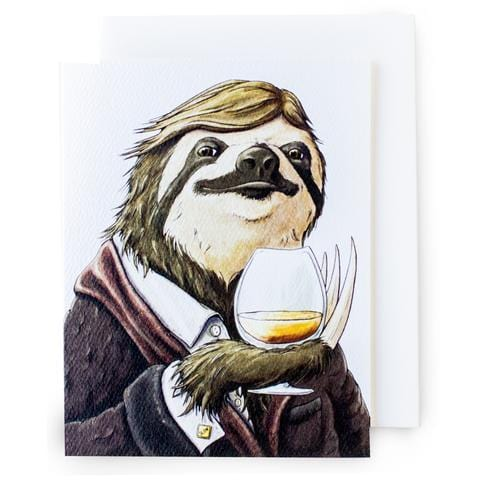 Happy Hour Sloth Card