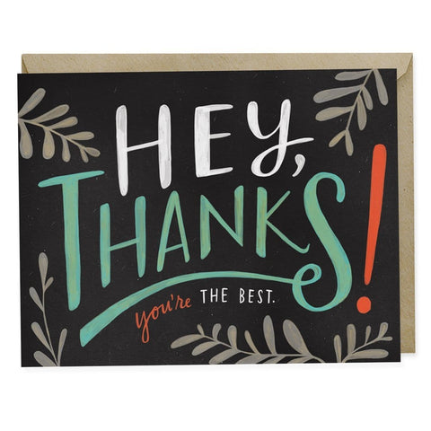 Hey, Thanks! Card