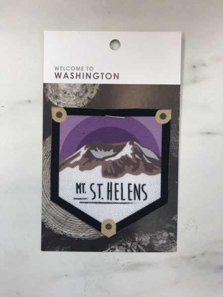 Mount St. Helens Iron On Patch