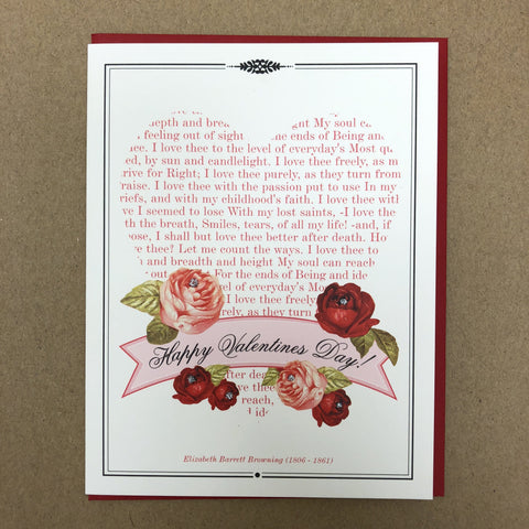 Happy Valentine's Day Elizabeth Browning Quote