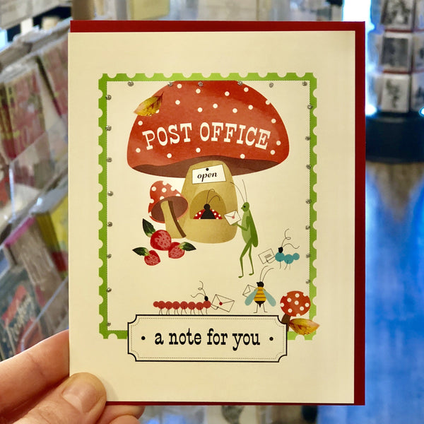 Critter's Post Office Note For You Card