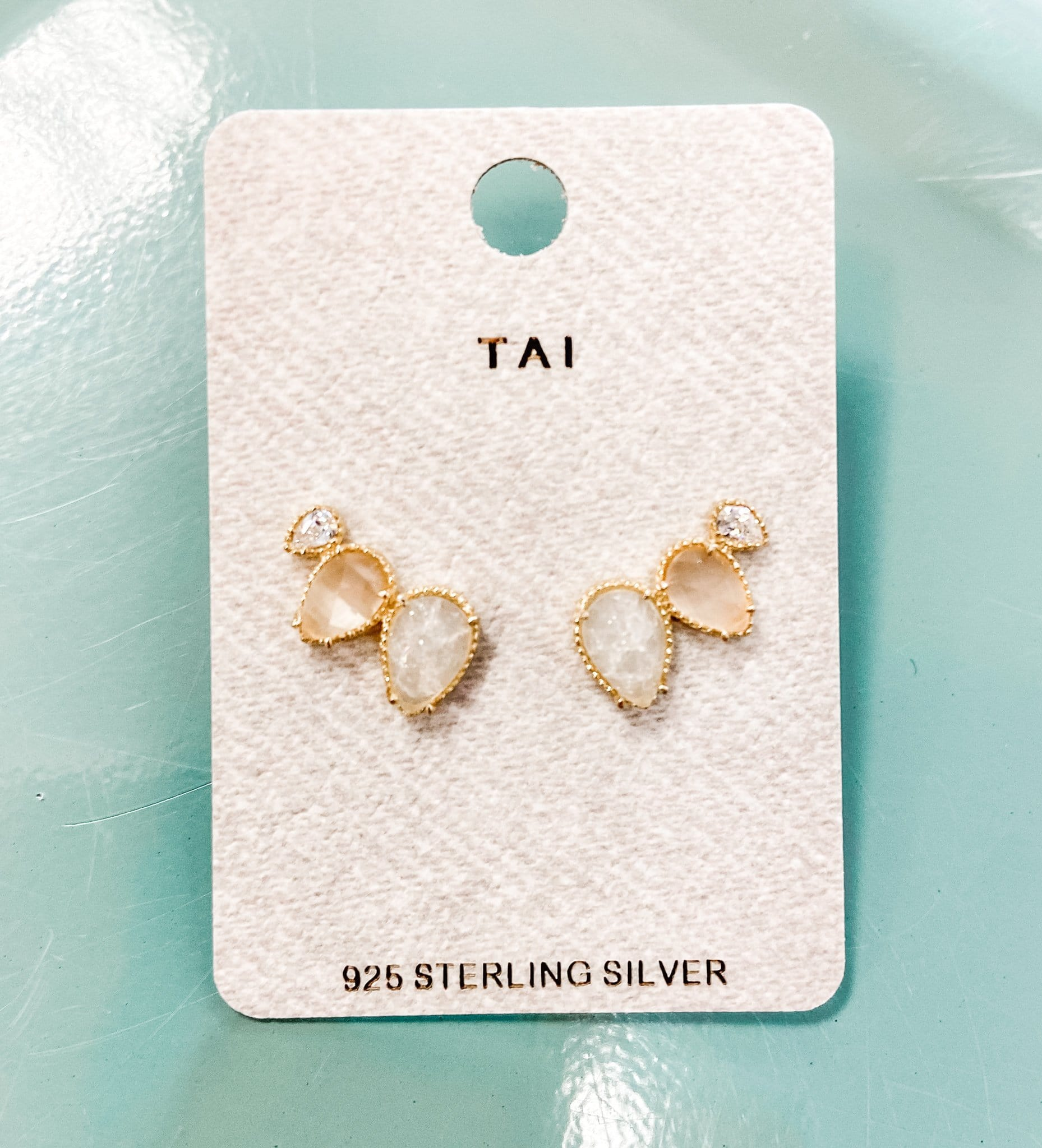 Gold Vermeil Climber Post Earrings