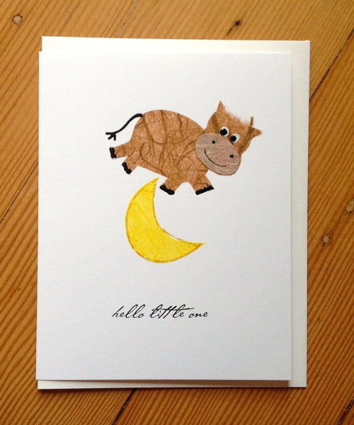 Cow Jumping Over Moon Baby Card