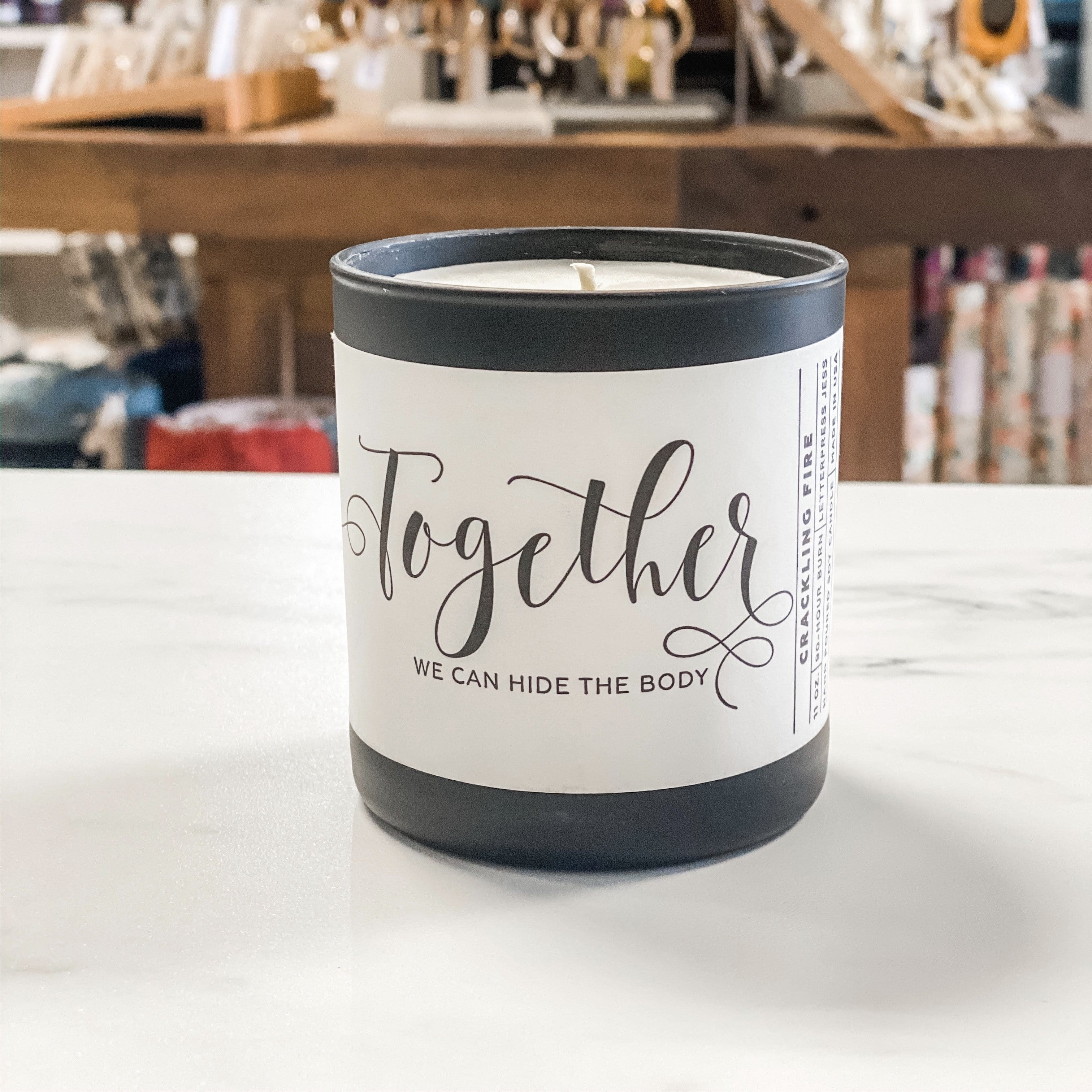 Together We Can Hide the Body Candle