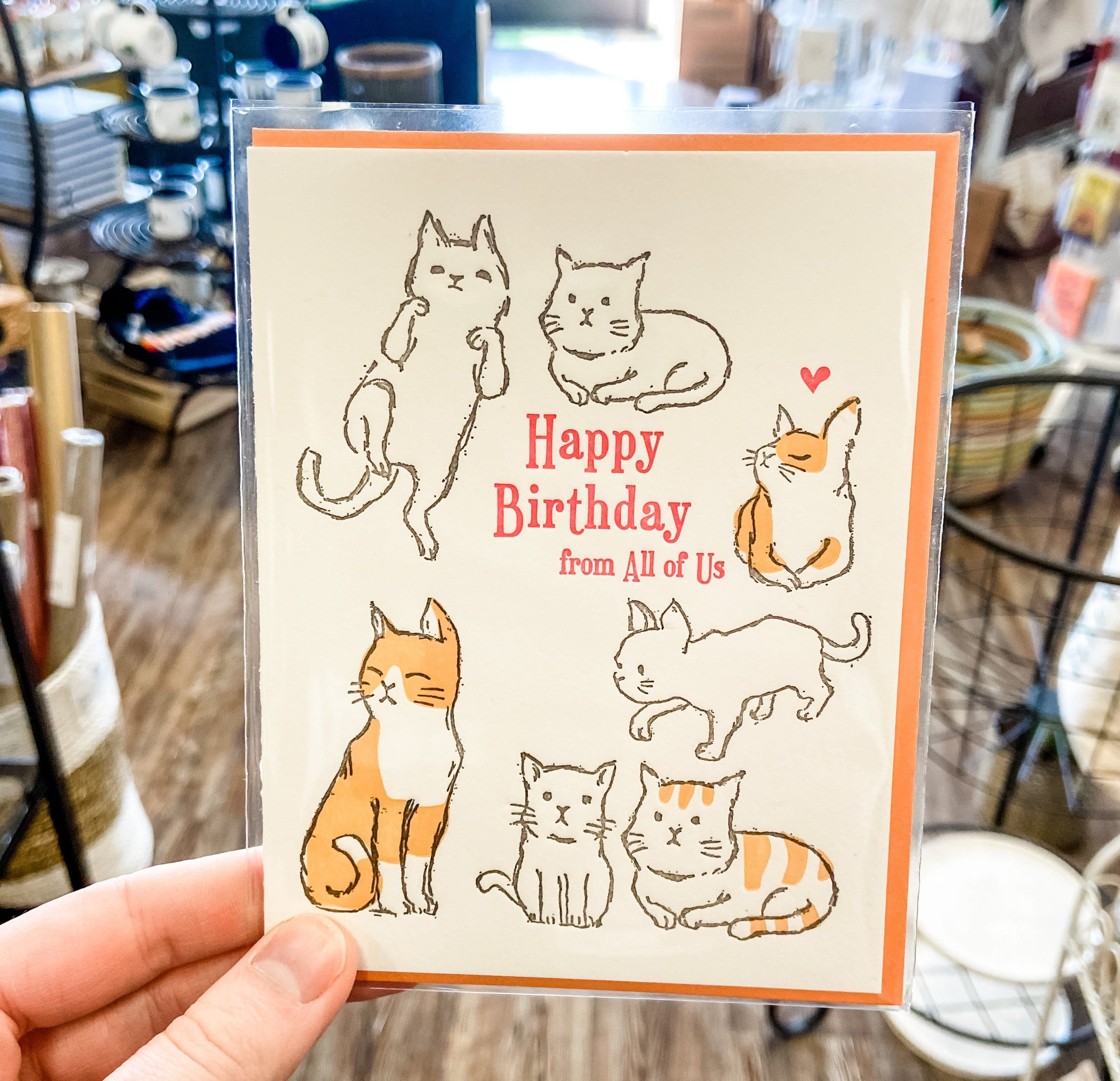 Cats Happy Birthday from All of Us Card