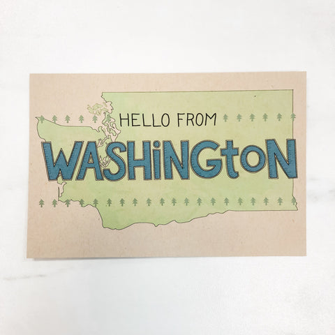 Hello from Washington Postcard