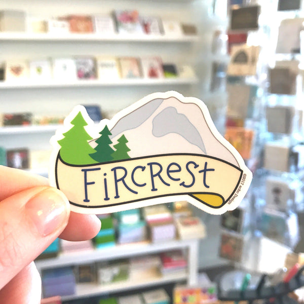 Fircrest Vinyl Sticker