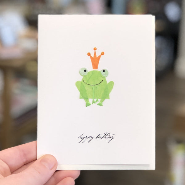 Frog Prince Birthday Card