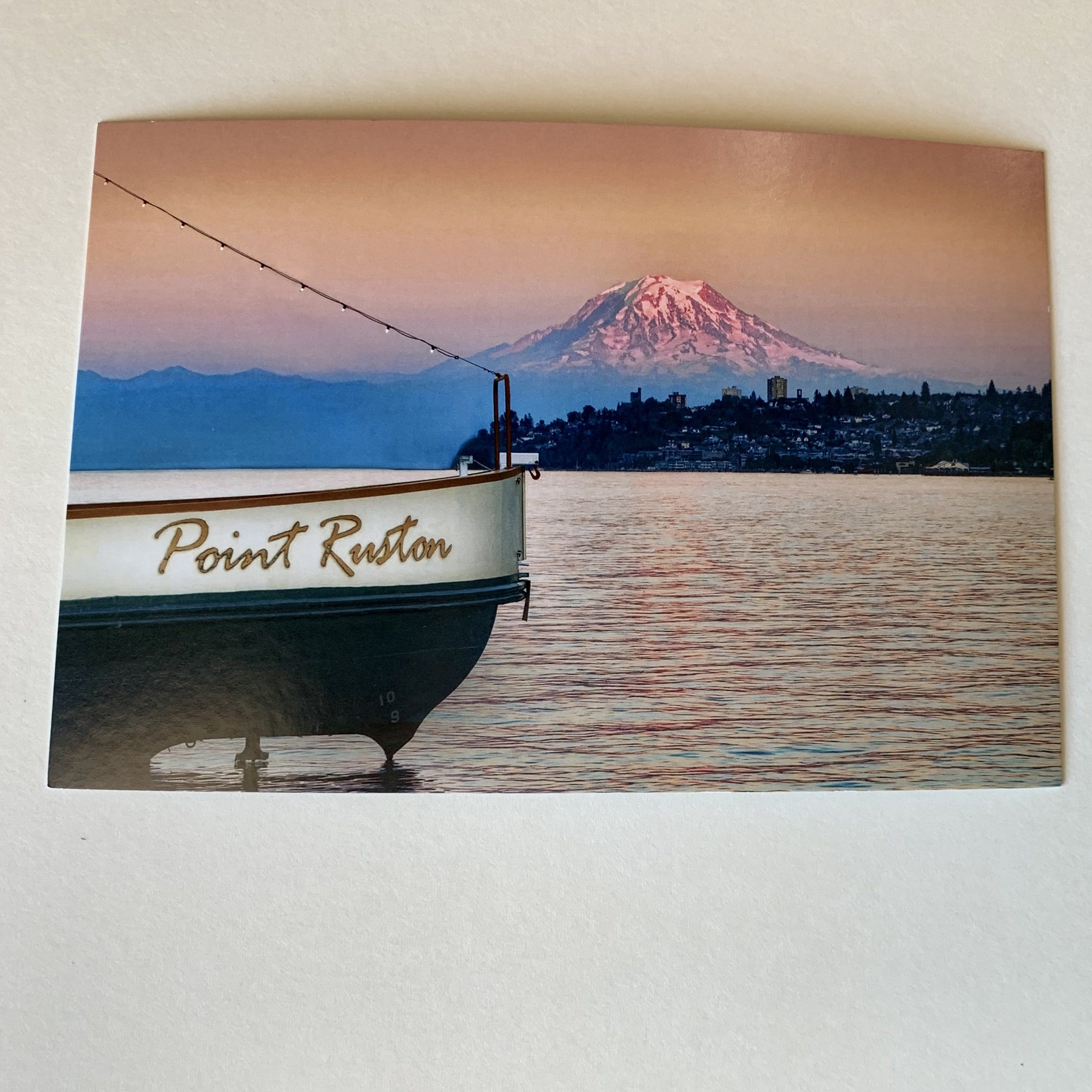 Rainier from Ruston Postcard