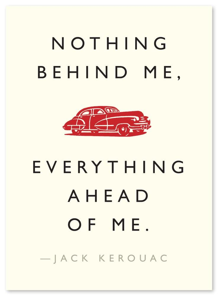 "Kerouac ""Everything Ahead"" Quote Card"