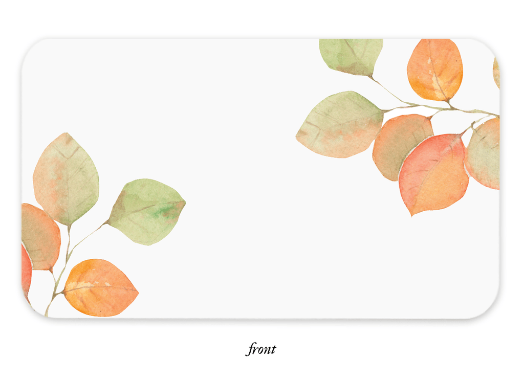 Fall Leaves Little Notes