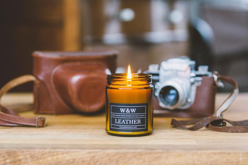 Leather 9oz Candle