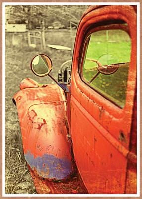 Rusted Red Truck Birthday Card