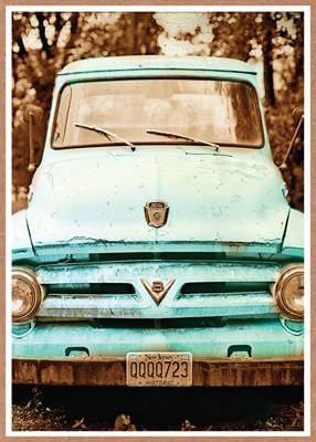 Teal Truck Birthday Card