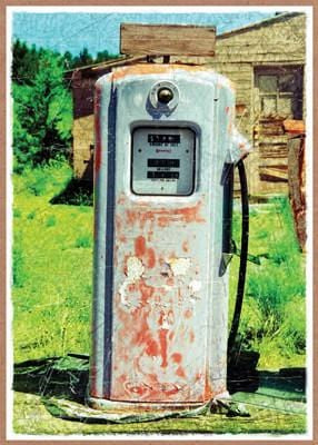 Gas Pump Birthday Card