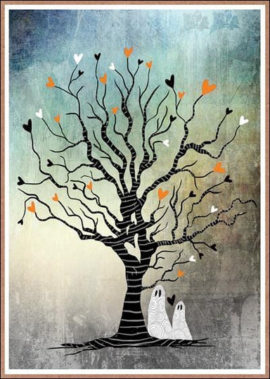 Tree with Ghosts Card