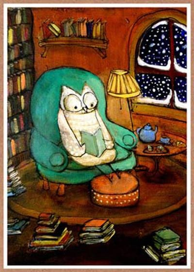 Reading Owl Card