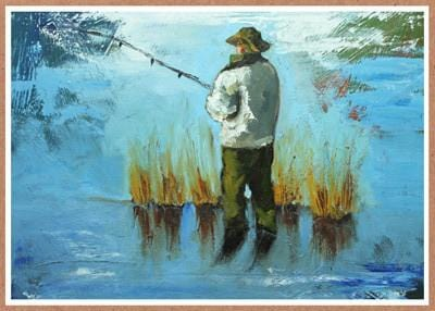 Fisherman Birthday Card