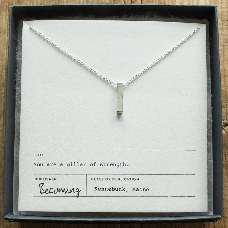 Pillar of Strength Necklace Sterling Silver