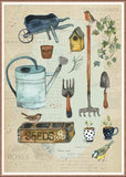 Vintage Garden Tools Birthday Card