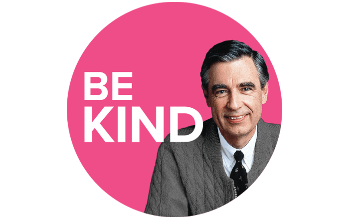 "Mister Rogers Be Kind 2.25"" Circle Magnet"