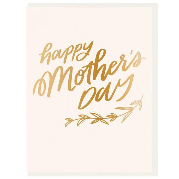 Happy Mother's Day Gold Card