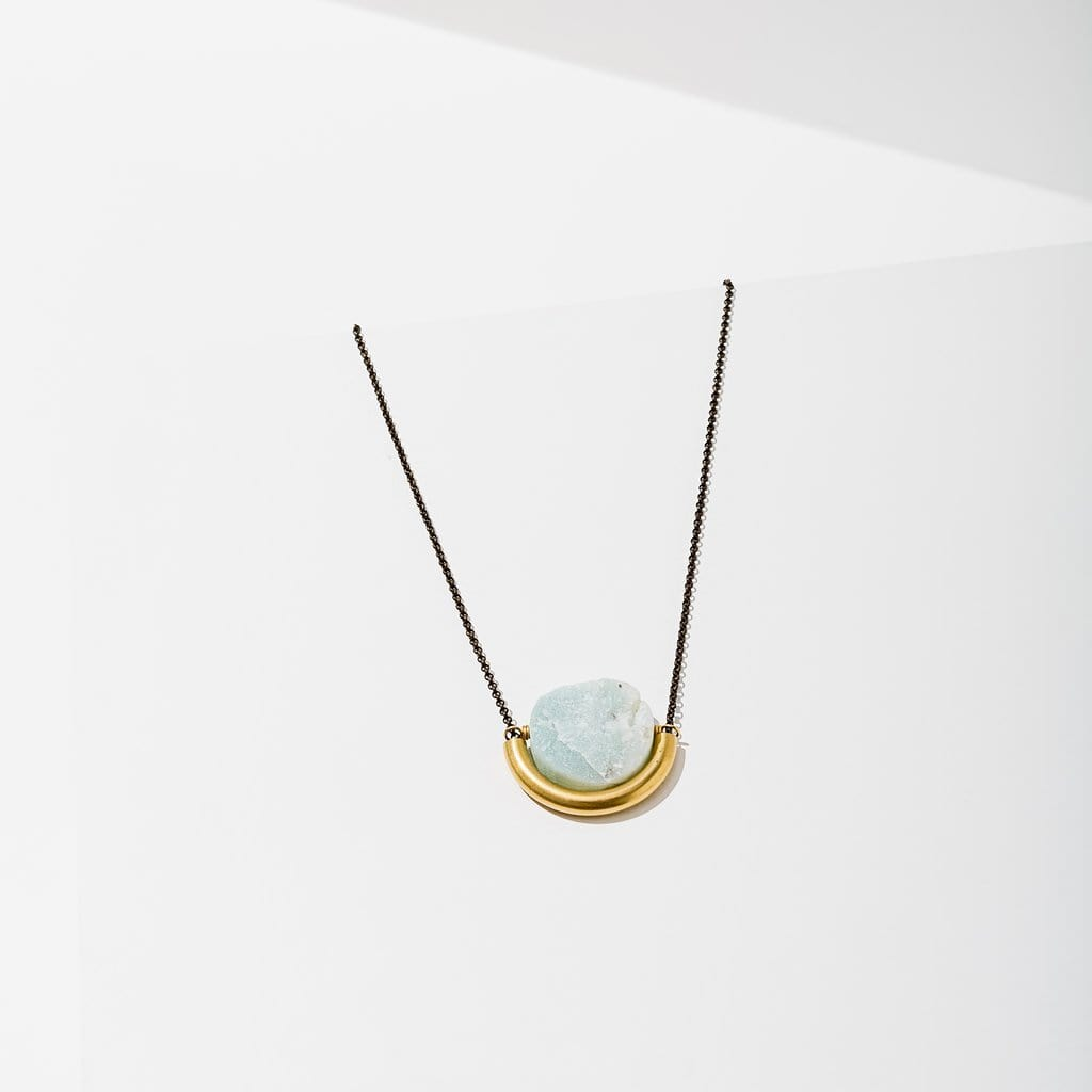 Sun and Moon Necklace - Brass
