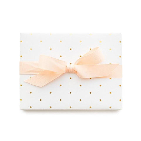 Sugar Paper White and Gold Petite Dot Wrapping Sheets
