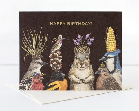 Birthday Squirrel and Friends Card