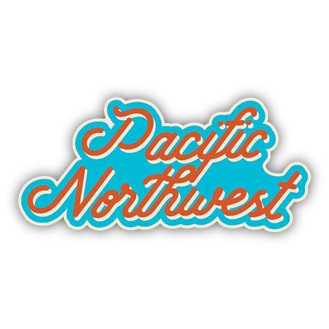 Pacific Northwest Script Sticker