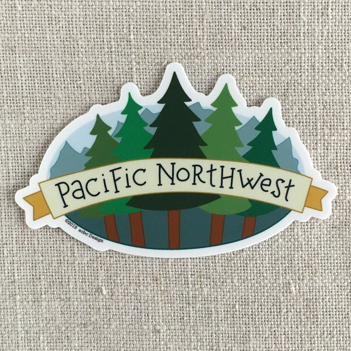 Pacific Northwest Trees Vinyl Sticker