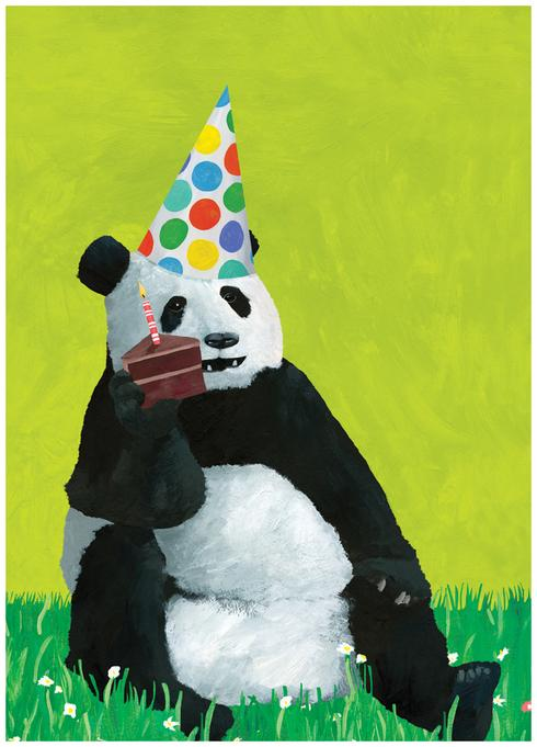 Pandamonium Birthday Card