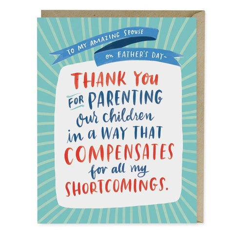 Parenting Shortcomings Father's Day Card