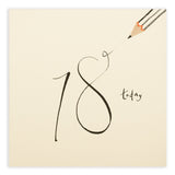 18th Birthday Pencil Shavings Card