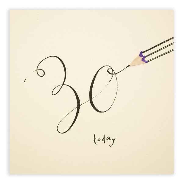 30th Birthday Pencil Shavings Card
