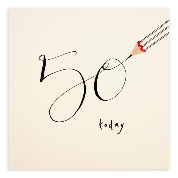 50th Birthday Pencil Shavings Card