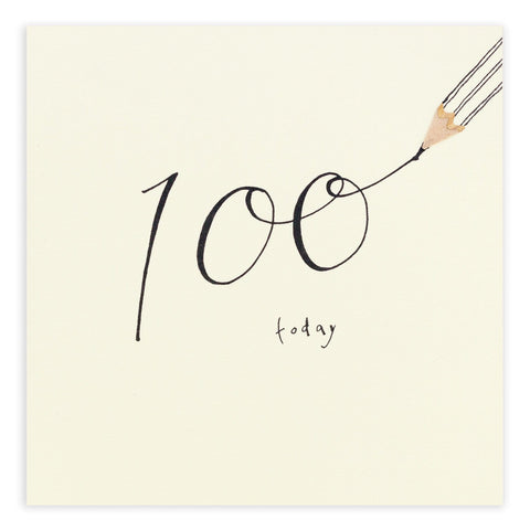 100th Birthday Pencil Shavings Card