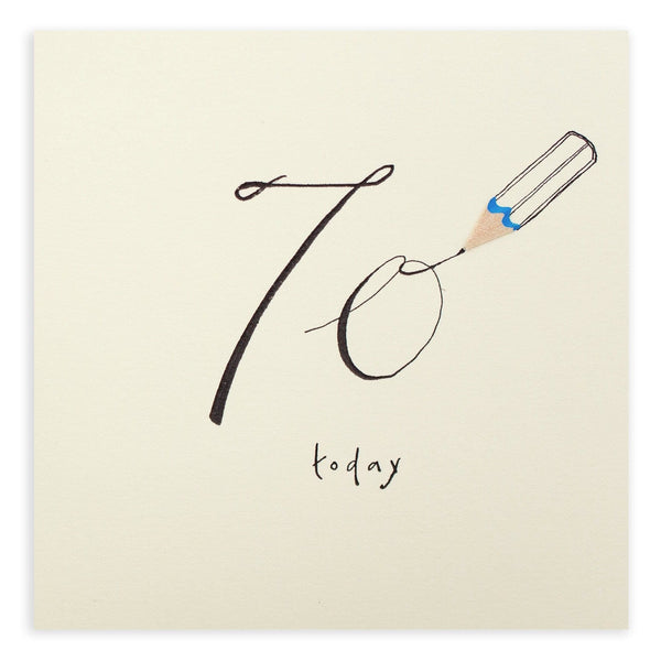 70th Birthday Pencil Shavings Card