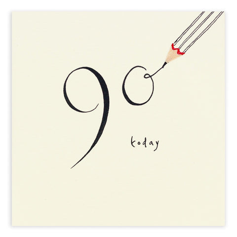 90th Birthday Pencil Shavings Card