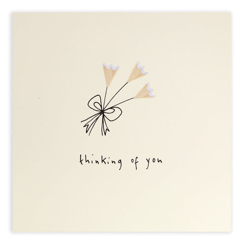 Sympathy Flowers Pencil Shavings Card