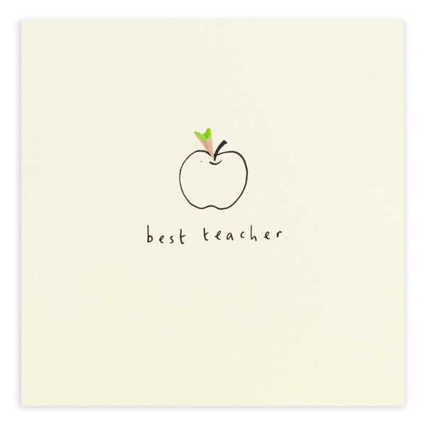 Best Teacher Apple Pencil Shavings Card