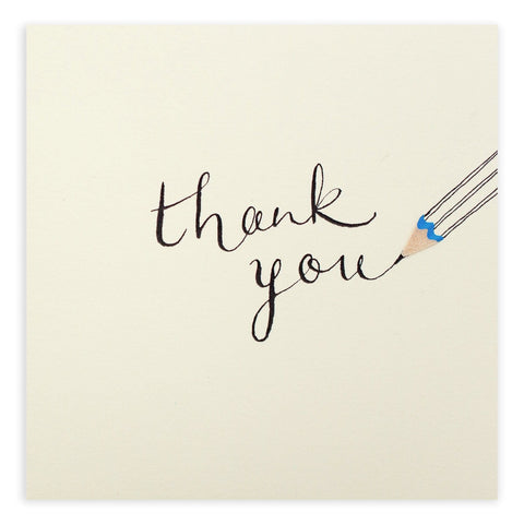 Thank You Pencil Shavings Card