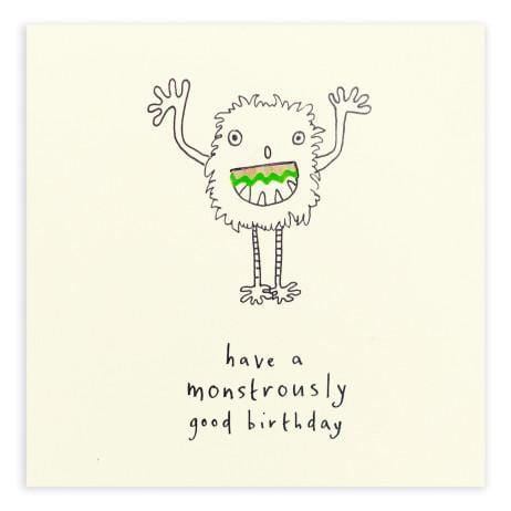 Birthday Monster Pencil Shavings Card