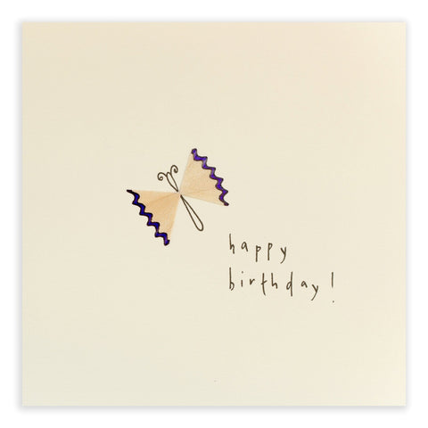 Butterfly Birthday Pencil Shavings Card