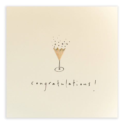Champagne Congratulations Pencil Shavings Card