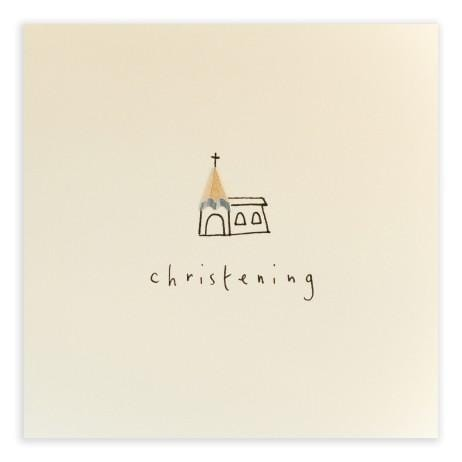 Christening Pencil Shavings Card