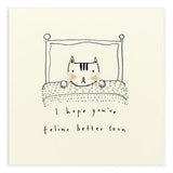Feline Better Pencil Shavings Card