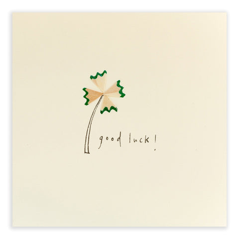 Good Luck Pencil Shavings Card